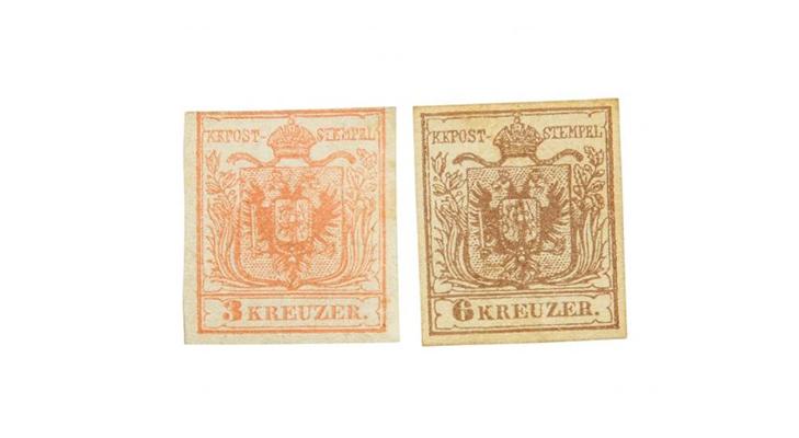 Первые марки Австрии, 1850 год