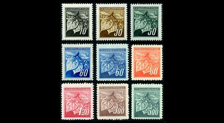 Первые чехословацкие марки Советского периода