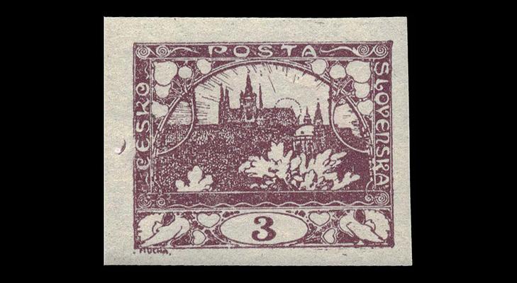 Первая марка Чехословакии - Градчаны