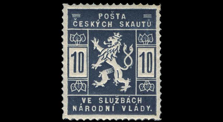 Марка почты скаутов Чехословакии