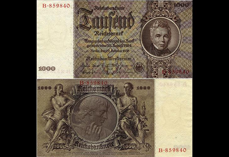 Банкноты Третьего рейха - 1000Rm