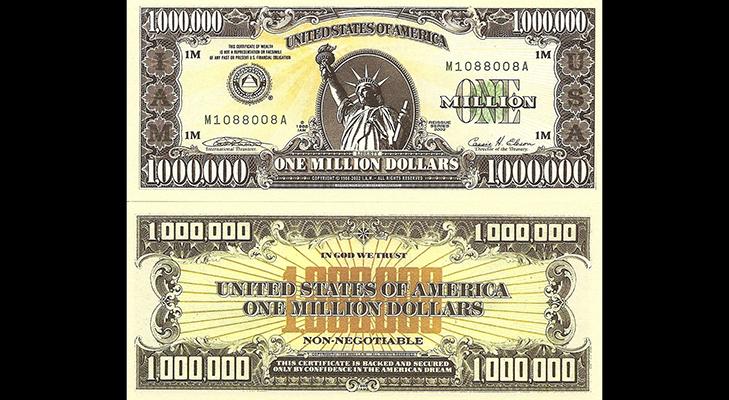 Банкнота 1000000 долларов