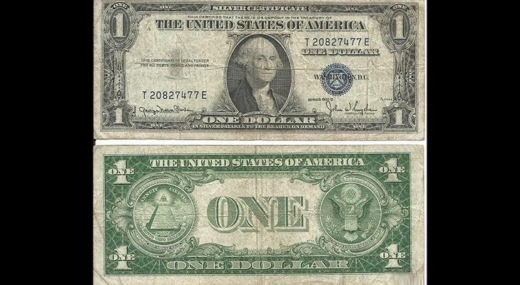 Банкнота 1 доллар