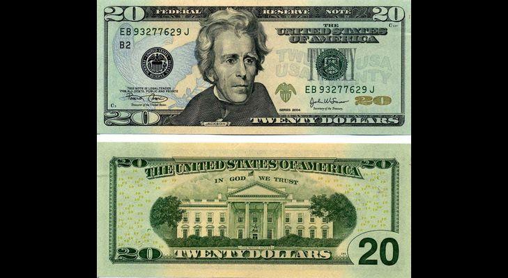 Банкнота 20 долларов