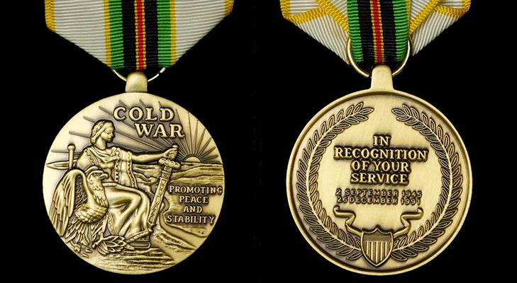 Медаль «За победу в холодной войне»  - описание