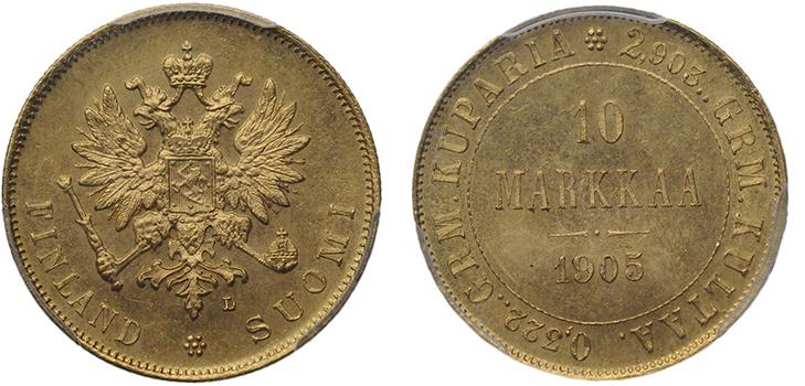 10 финских марок 1905 года