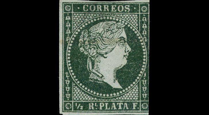 Первые почтовые марки Кубы