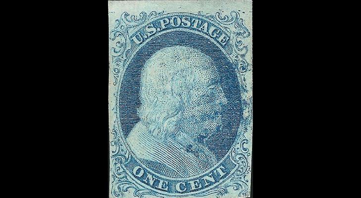 Почтовая марка США, 1851 год
