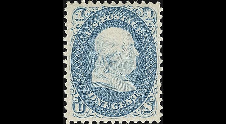 Марка США периода Гражданской войны, 1861 год