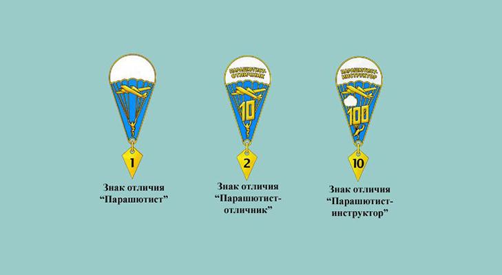 Значки за прыжок с парашютом 2005