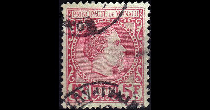 Самые дорогие марки Монако: Карл III, 1885