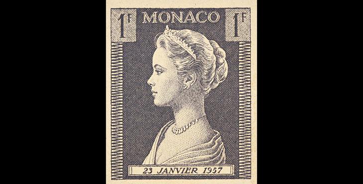 Самые дорогие марки Монако: Принцесса Грейс, 1957
