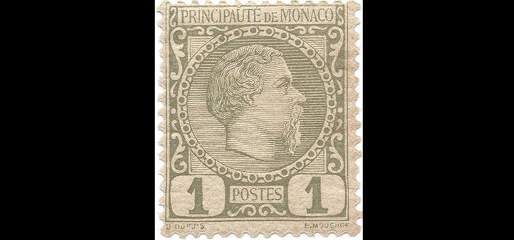 Первая почтовая марка Монако