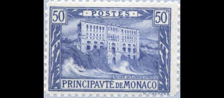 """Почтовая марка """"Океанографический музей Монако"""", 1922"""