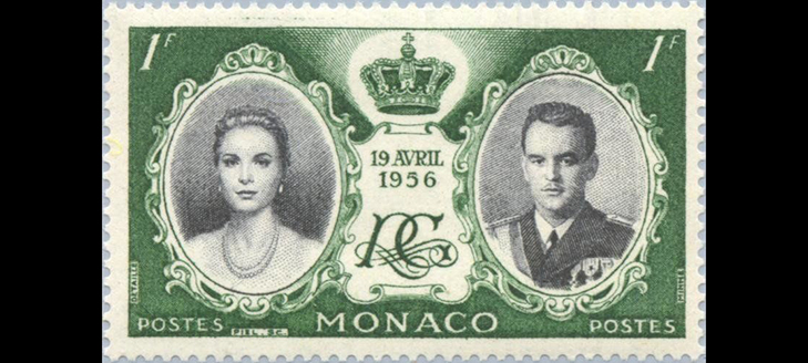 Марки Монако: Свадьба Ренье III и Грейс Келли, 1956