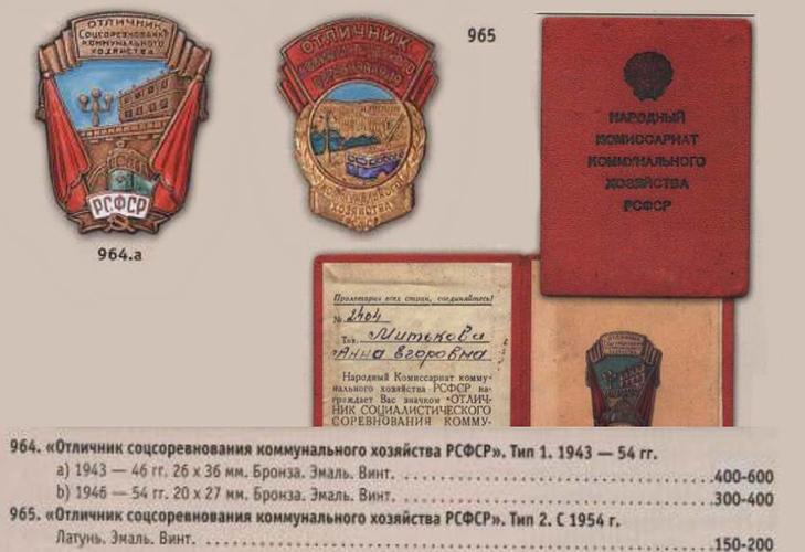 Значки РСФСР «Отличник местной промышленности»