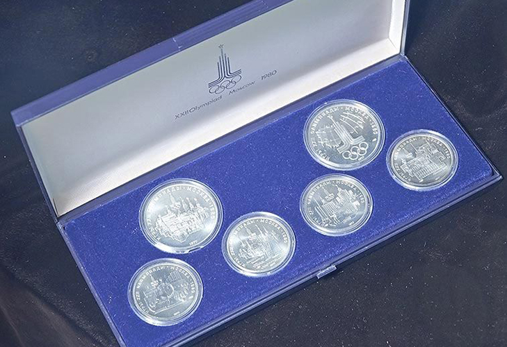 Серебряные монеты, посвященные Олимпиаде-80