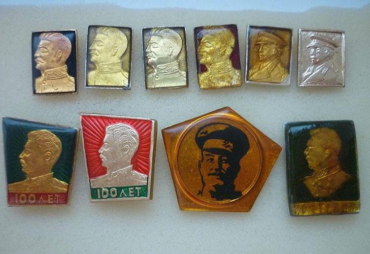 Разные значки со Сталиным