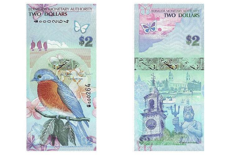 2 бермудских доллара