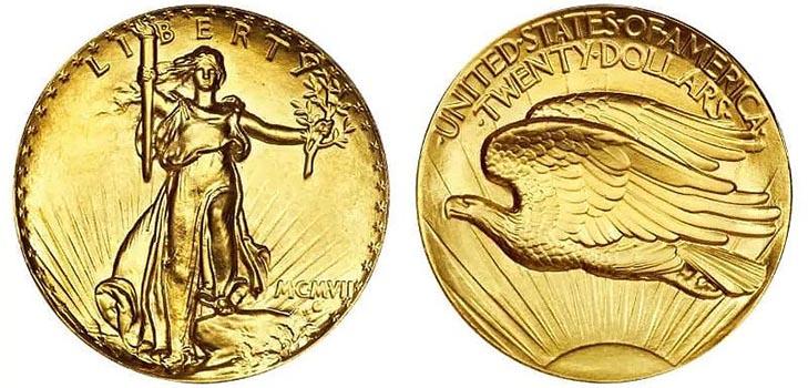 Монета «Двойной орёл» Сент-Годенса