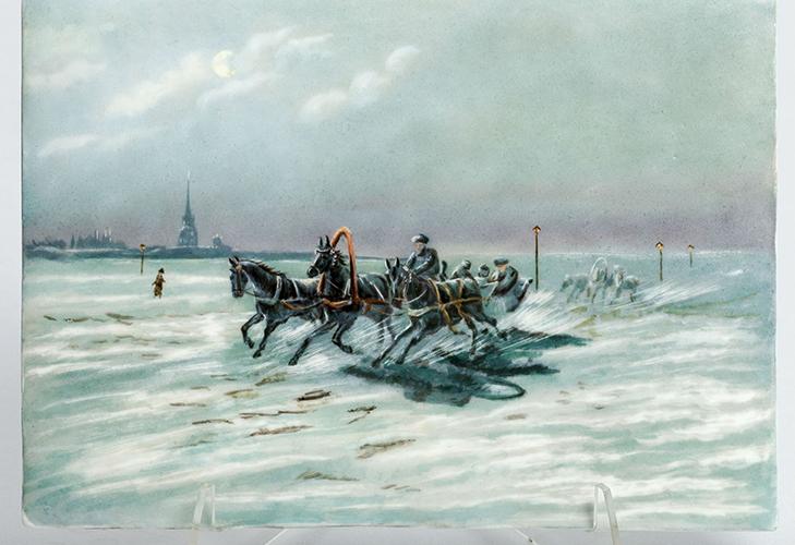 Фарфор XIX века роспись