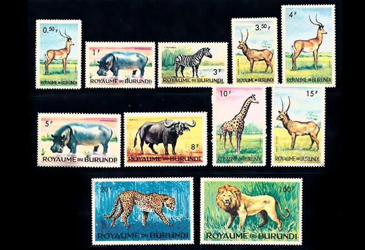 Почтовые марки Бурунди описание