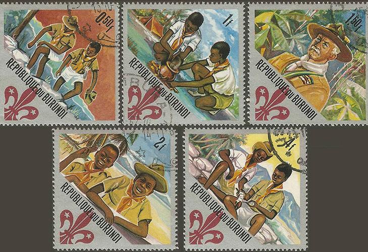 Марки «Rеpublique du Burundi»