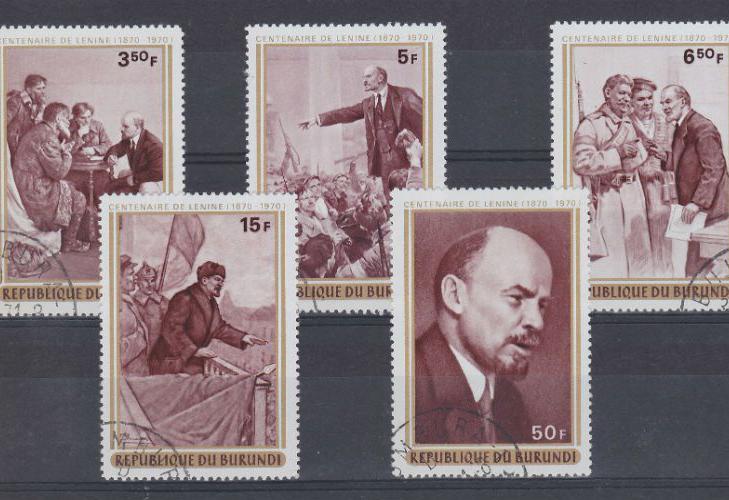 Марки Бурунди, посвященные Ленину