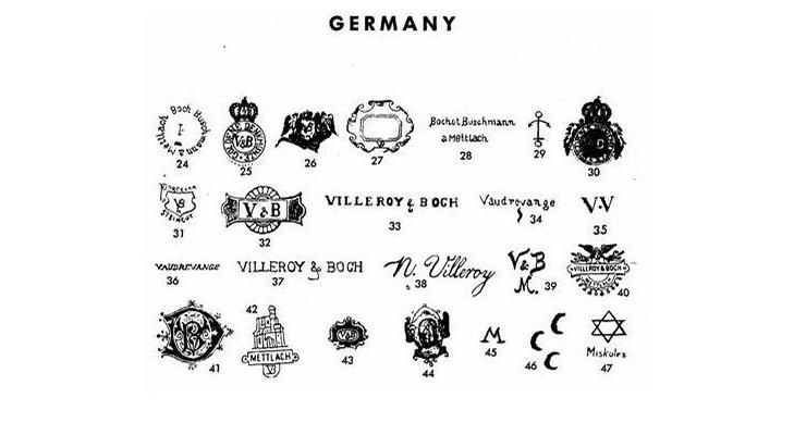 Клейма немецкого фарфора