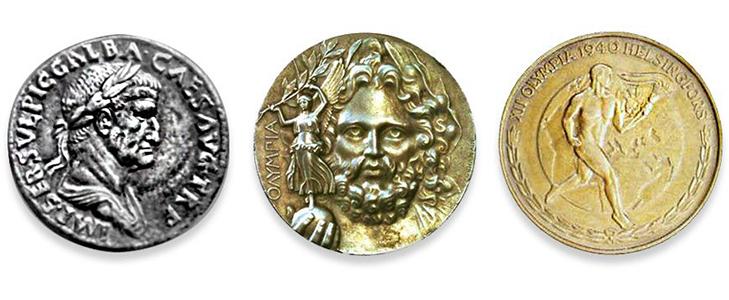 Олимпийские медали Древней Греции