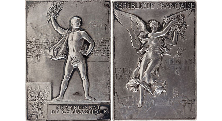 Олимпийские медали 1900 год