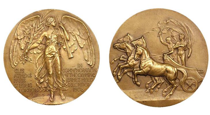 Олимпийские медали 1908 год