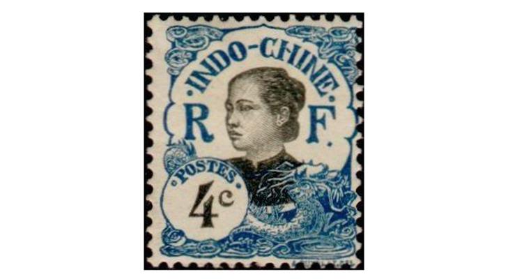 Марка Французского Индокитая 1907