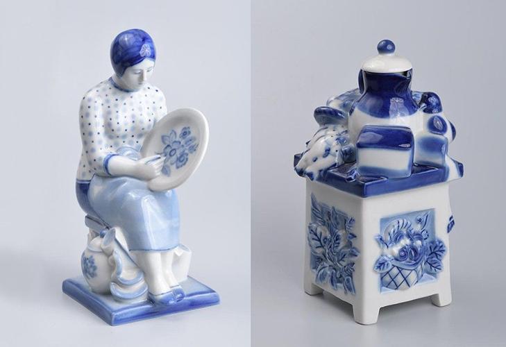 Фарфоровые фигурки скульптора А. И. Равкина