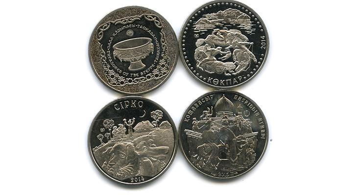 Юбилейные монеты Казахстана разных лет