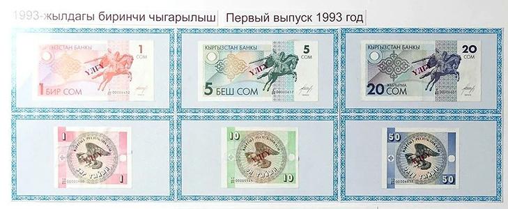 Банкноты Киргизии 1993 года