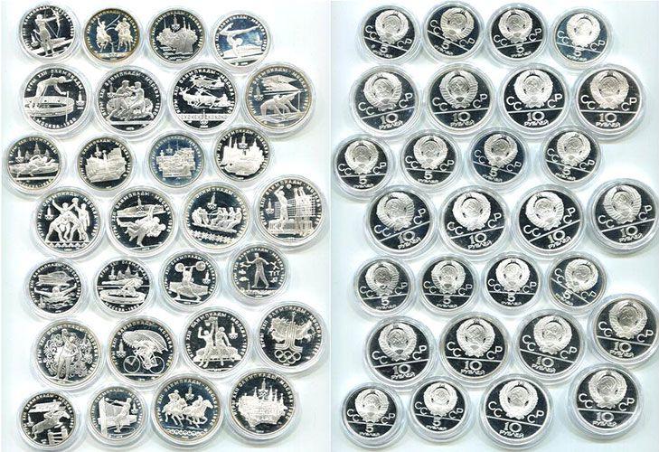 Серебряные монеты в честь Олимпиалы