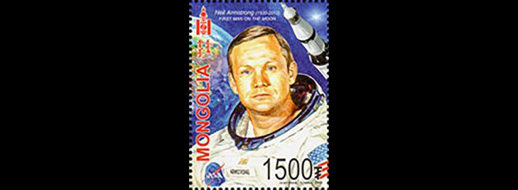 """Марки Монголии """"50-летней годовщины со дня высадки на Луну"""", 2019 год"""