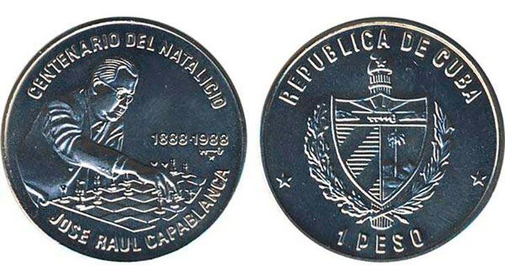 Монета в честь 100-летия Хосе Рауля Капабланки