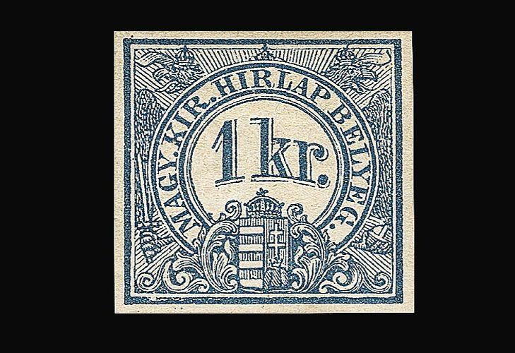 Газетная марка номиналом 1 крейцер