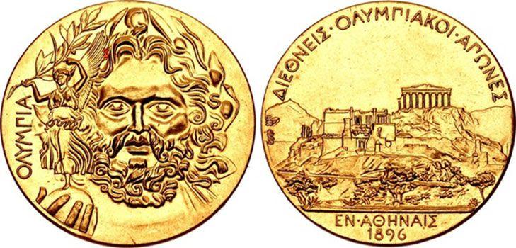 Первая золотая олимпийская медаль