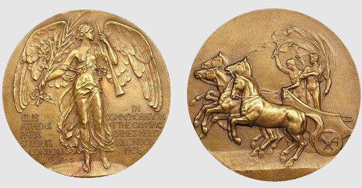 Олимпийские медали из чистого золота