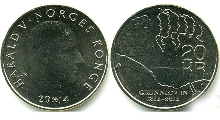 Современные монеты Норвегии