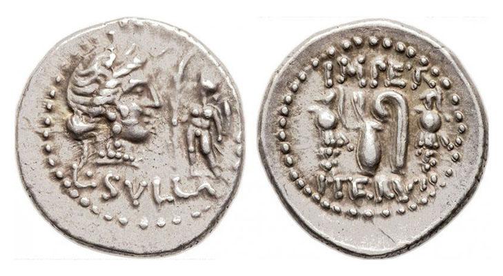 Денарии 84-83 года до н.э