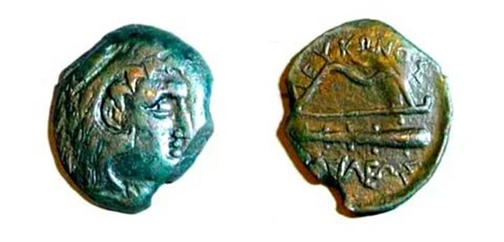 Монеты с изображением Левкона