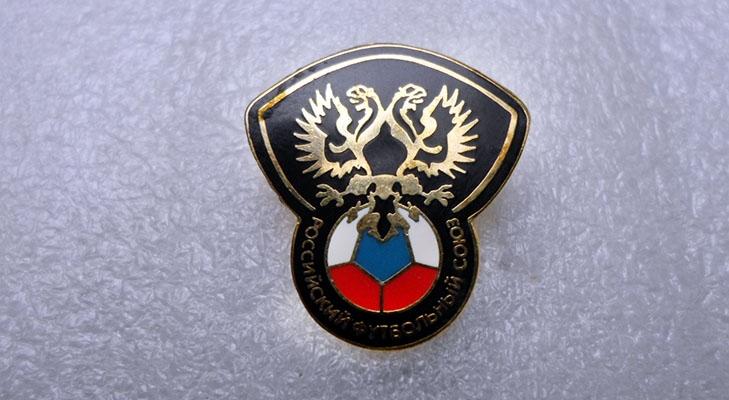 Российский значок футбольной тематики