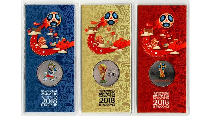 Цветные монеты к ЧМ 2018