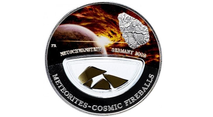 Монета с метеоритом