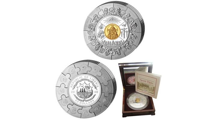 Монета в виде пазла