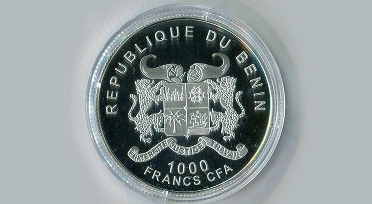 Реверс монеты с изображением Высоцкого